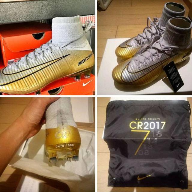 Nike làm sẵn giày kỷ niệm Quả bóng vàng thứ 5 của Ronaldo