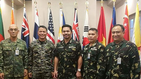 Võ sĩ Pacquiao được phong hàm Đại tá quân đội Philippines