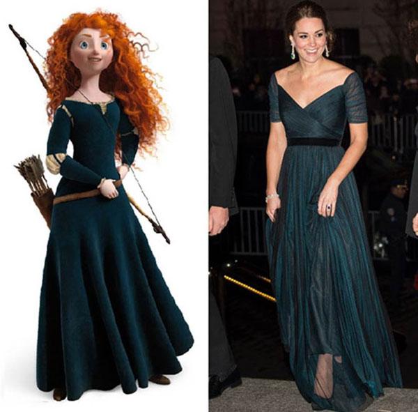 7 bộ cánh khiến công nương Kate y chang các nàng công chúa Disney