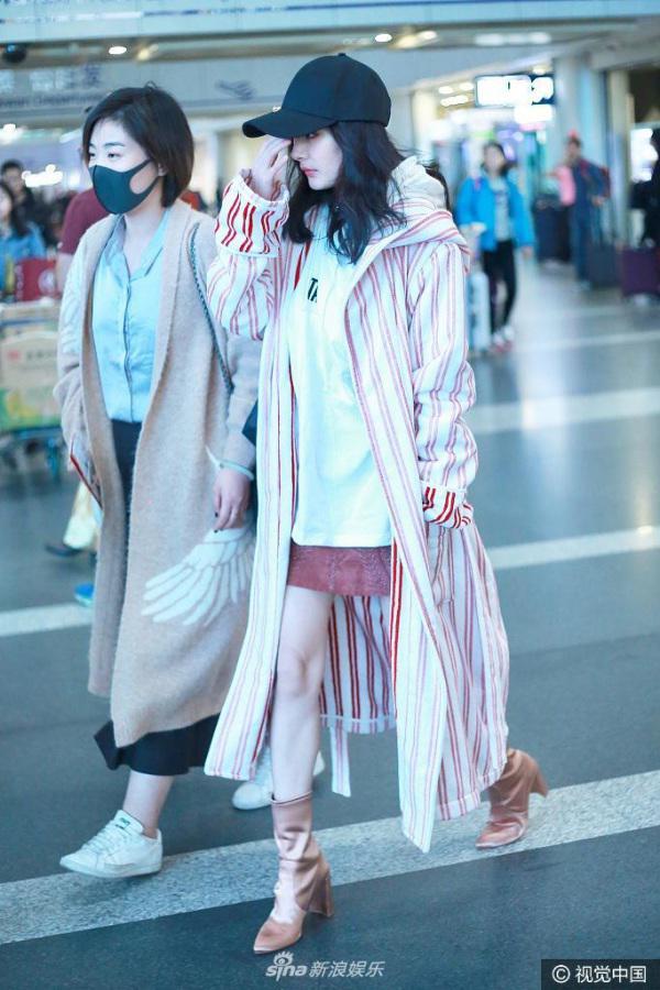 Dương Mịch mặc đồ đông, ai nấy đều tấm tắc khen ngợi và răm rắp học theo!