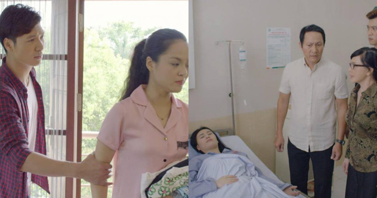 Thu Quỳnh khó chịu ra mặt khi thấy chồng tận tình chăm sóc em dâu