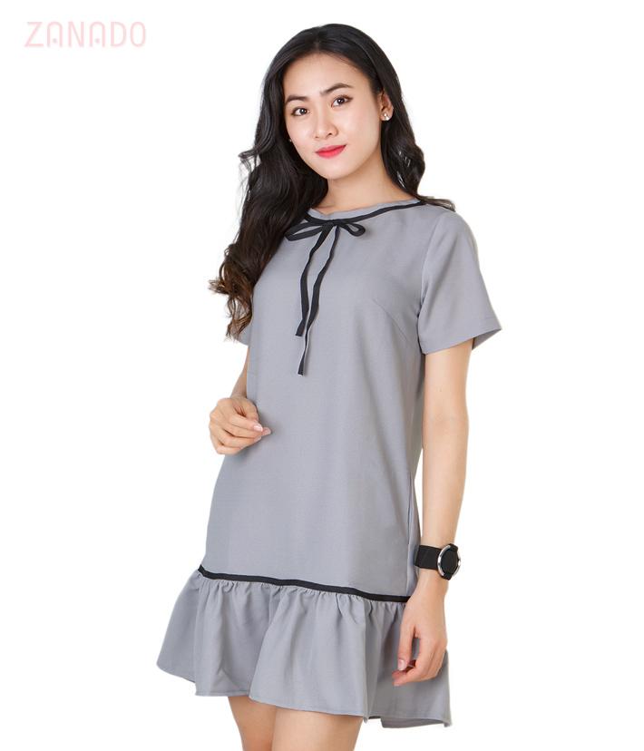 Đầm chân bèo phối nơ SISKIN thời trang SID56793