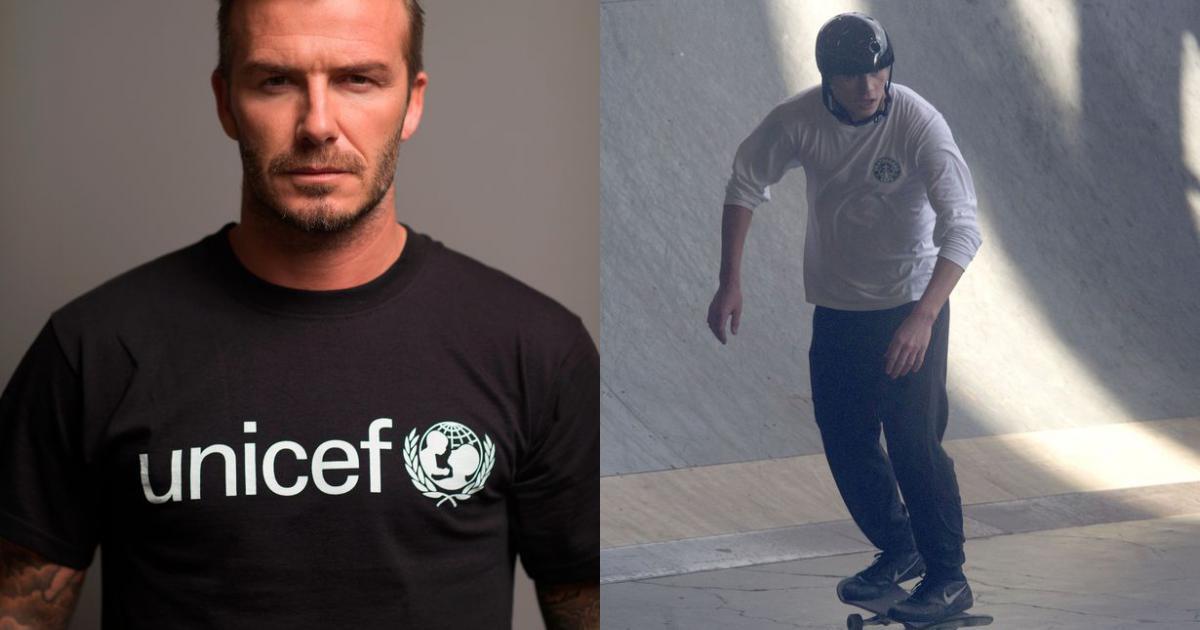 David Beckham nghe Harper đọc truyện, đi xem Brooklyn trượt ván giữa lùm xùm từ thiện giả
