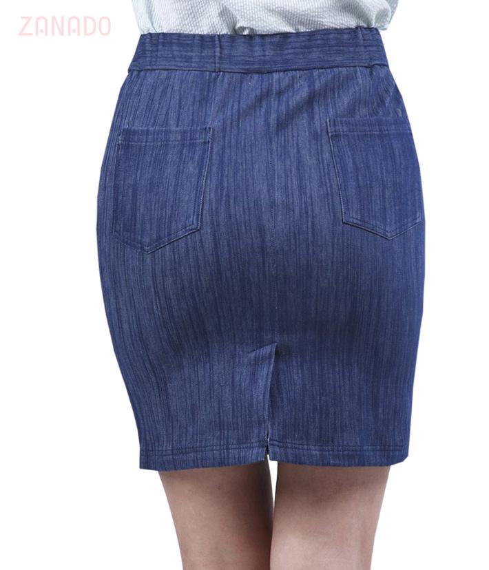 Chân váy jeans nữ phối khóa ĐAN CHÂU 784 SID58135