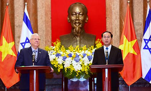 Tổng thống Israel coi Việt Nam có vai trò hàng đầu ở Đông Nam Á