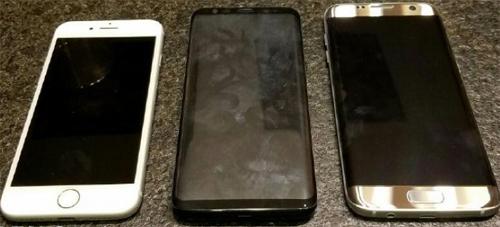 Galaxy S8 so kiểu dáng với iPhone 7 và Galaxy S7