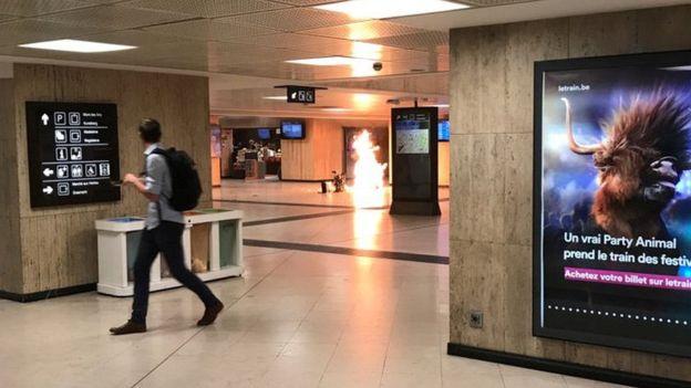 Bỉ bắn chết kẻ đánh bom khủng bố tại ga tàu ở thủ đô Brussels - Hình 1