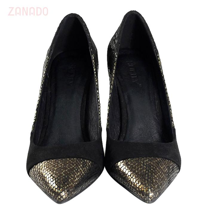Giày cao gót da rắn phối màu SULILY G01-I17 SID63162 - Hình 5
