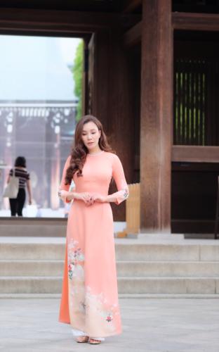 Mãn nhãn ngắm Hồ Quỳnh Hương thướt tha mặc áo dài tại Nhật Bản - Hình 7