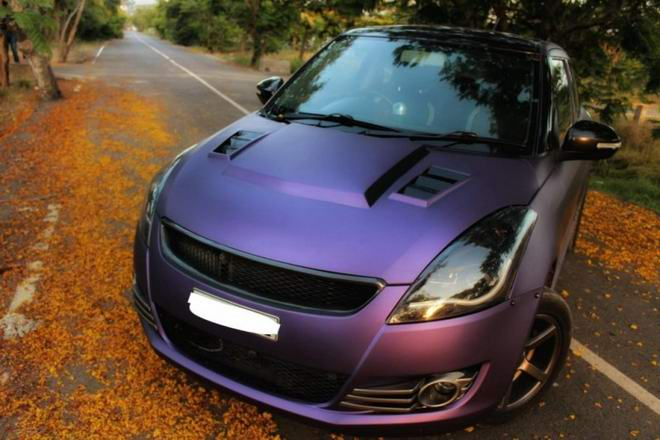 Suzuki Swift nổi bật với bộ cánh màu tím mộng mơ - Hình 1