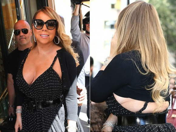 Đeo trang sức đầy người nhưng Mariah Carey lại quên không mặc nội y - Hình 5