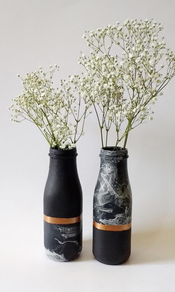 4 cách tái chế chai lọ cũ thành lọ cắm hoa xinh lung linh