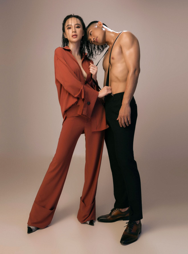 Angela Phương Trinh và Hữu Vi ăn cơm trước kẻng trong phim Glee