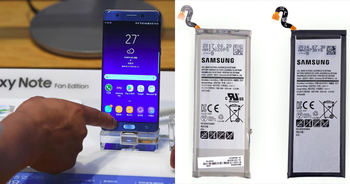 Bên trong mẫu máy Galaxy Note FE có gì?
