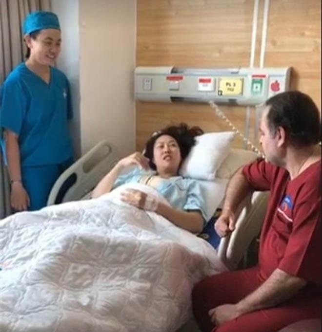 Phi Thanh Vân cười tươi sau ca đại phẫu thuật cả 3 vòng trên cơ thể