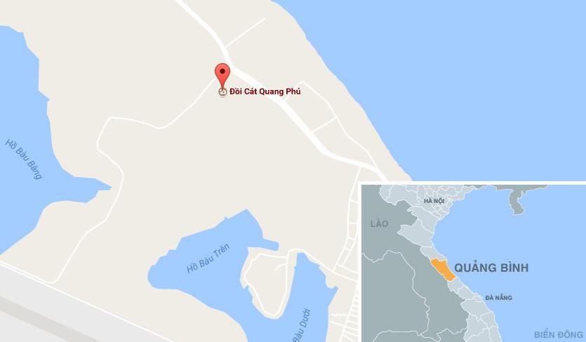Trượt trên miền biển cát dài vô tận ở Quang Phú