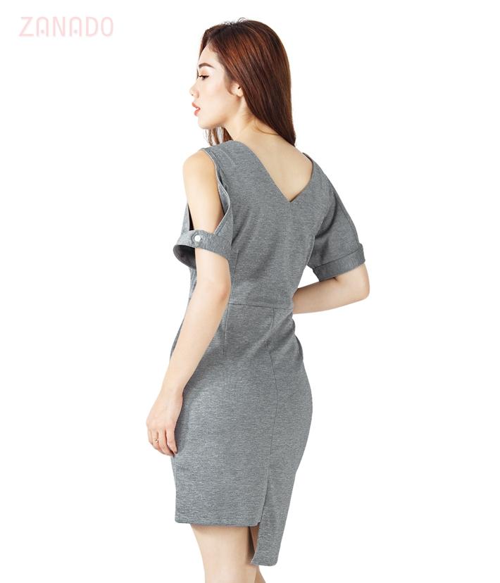 Đầm body cổ tim khoét vai sang trọng SID64603