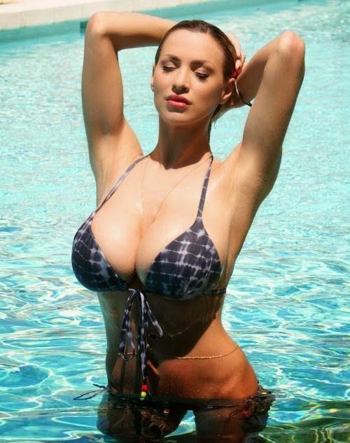 Girl xinh siêu khủng Jordan Carver bikini - Hình 41