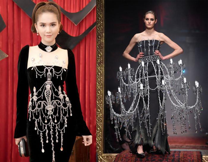 Ngọc Trinh và những lần diện váy nhái từ nhà mốt quốc tế