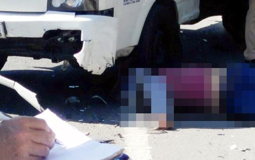 Xe tải lấn làn trên cầu, tông một người tử vong