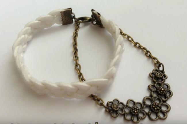 Cách làm vòng tay handmade thắt bím bốn dây xinh xắn