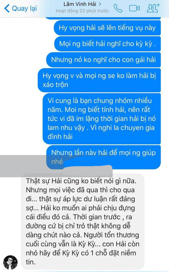 Lâm Vinh Hải nói gì trước thông tin vợ cũ bị tố từng ngoại tình?