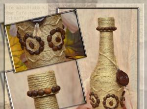 Cách trang trí chai thủy tinh bằng dây thừng đẹp mắt