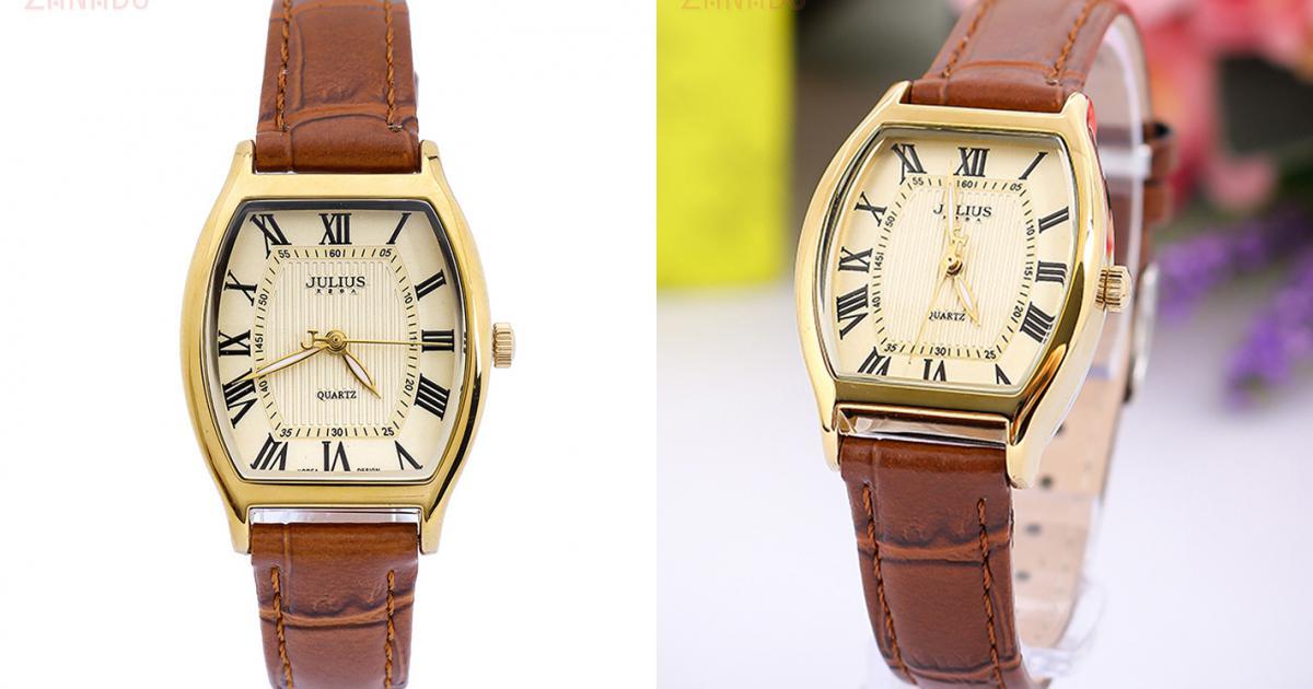 Đồng hồ nam JULIUS Hàn Quốc chính hãng JU995 (Nâu viền vàng) SID64622