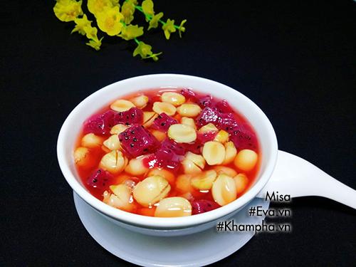 [Chế biến] - Chè hạt sen nấu thanh long đỏ, tuyệt ngon để detox ngày nắng nóng