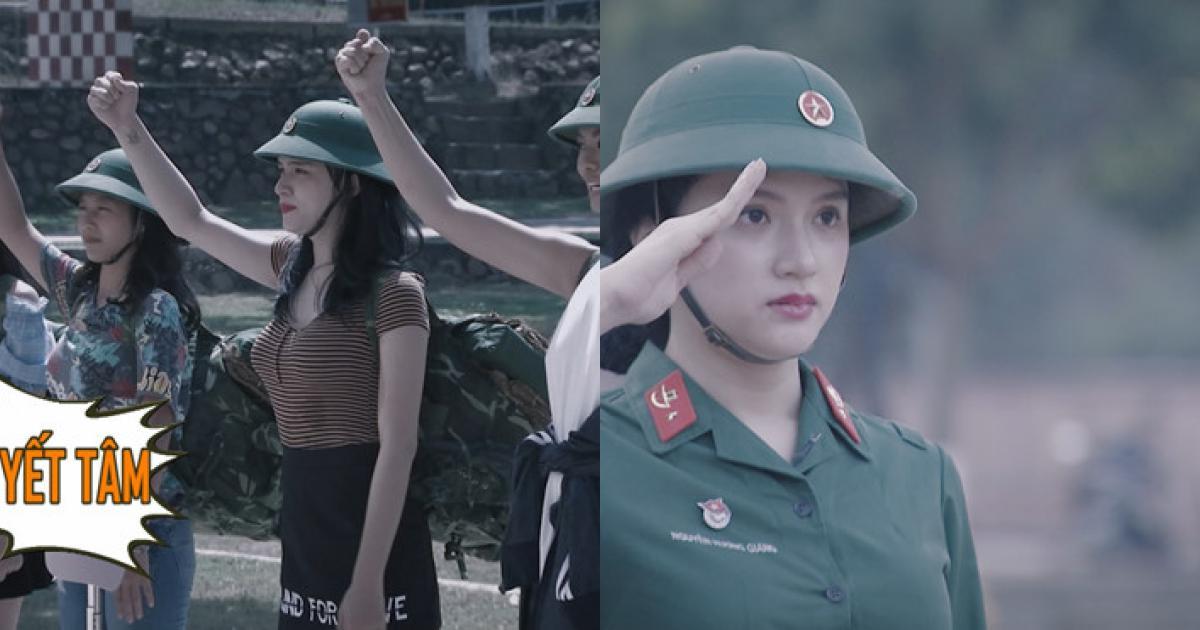 Hương Giang Idol được bầu làm tiểu đội trưởng khi nhập ngũ