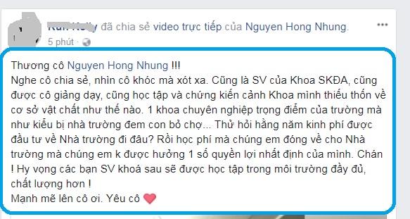 Học trò ủng hộ vợ nghệ sĩ Xuân Bắc sau livestream khóc nức nở