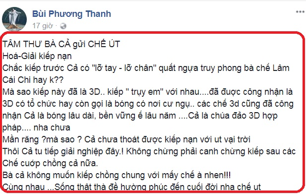 Lâm Khánh Chi bức xúc đáp trả: Phương Thanh bẻ lái sỉ nhục LGBT