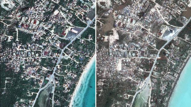 Sức tàn phá khủng khiếp của siêu bão Irma nhìn từ vệ tinh