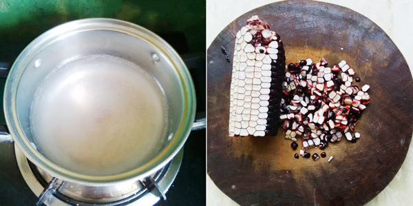 [Chế biến] - Súp trứng gà ngô cẩm cho bữa sáng ấm bụng