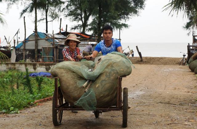 Công an giúp dân gặt lúa chạy bão - Hình 10