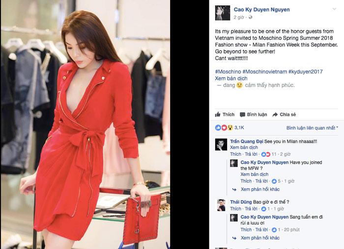 Hoa hậu Kỳ Duyên sẽ quẩy tung nóc tại Milan Fashion Week 2018