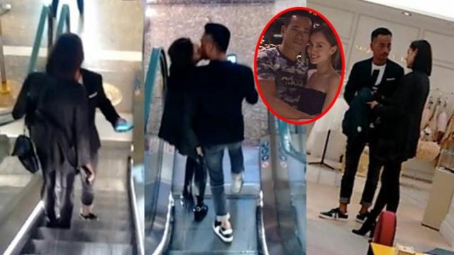 Kiều nữ TVB bị chê cười khi âu yếm đại gia có vợ nơi công cộng