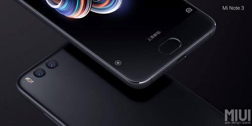 Xiaomi Mi Note 3 vừa ra mắt, giá mềm