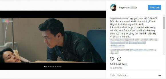 Huỳnh Anh lần đầu lên tiếng về mối quan hệ tình cảm với Hạ Vi