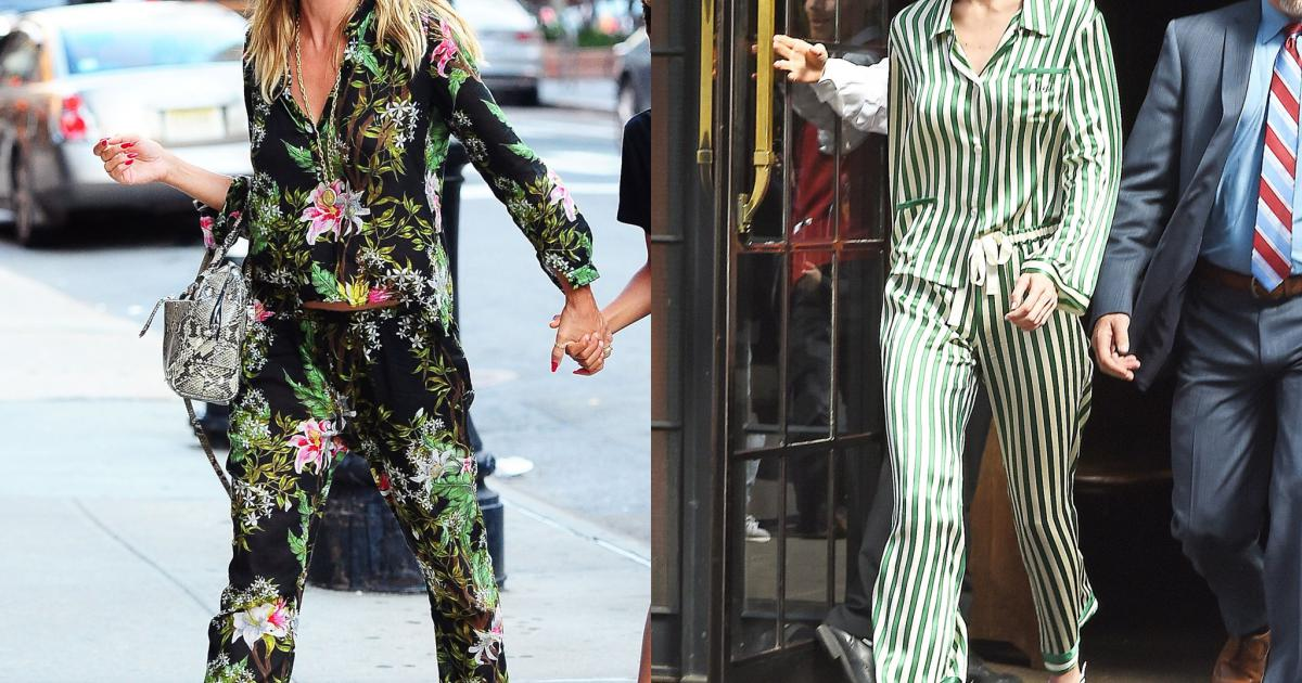Học sao cách biến pyjama thành trang phục đường phố cá tính