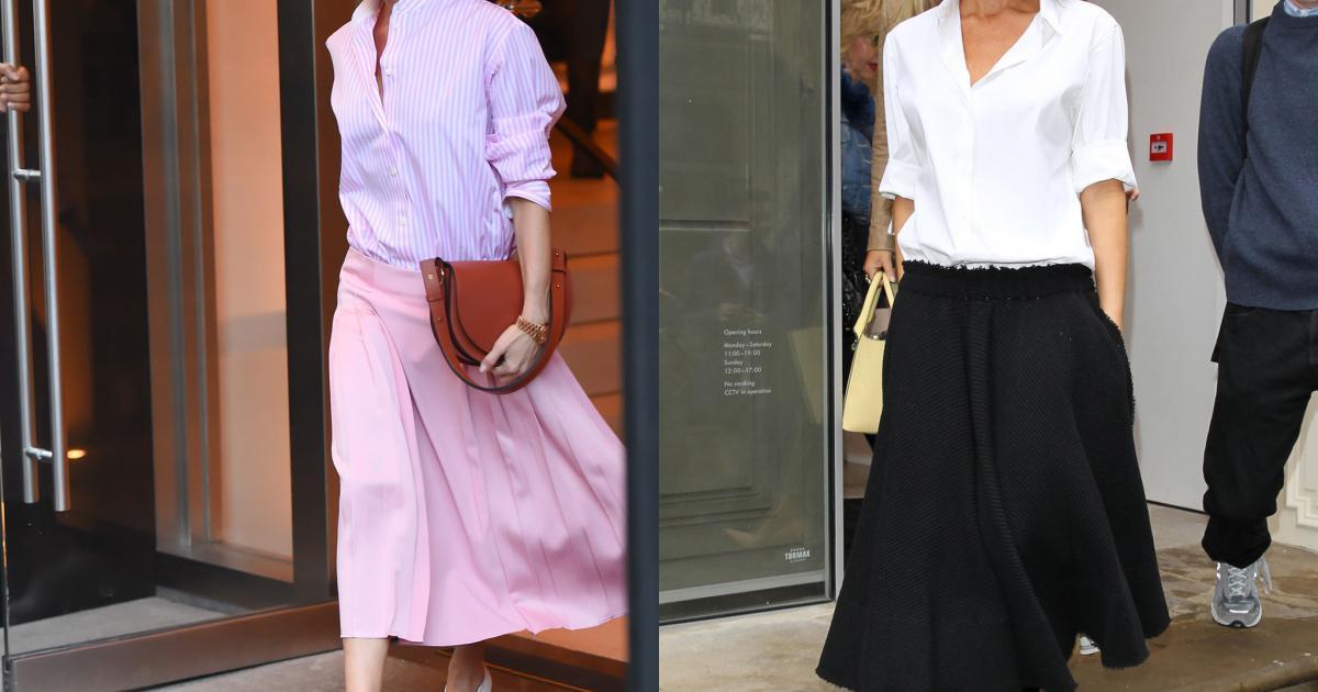 Học Victoria Beckham cách diện sơ mi và chân váy