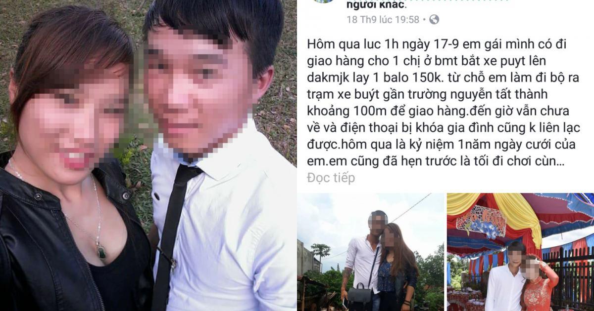 Một cô gái trẻ mất tích khi đi giao hàng bán qua mạng