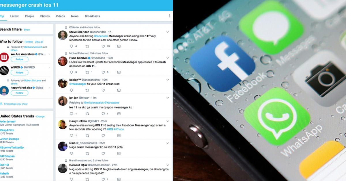 Facebook Messenger bị treo khi dùng chung với iOS 11 - Thế