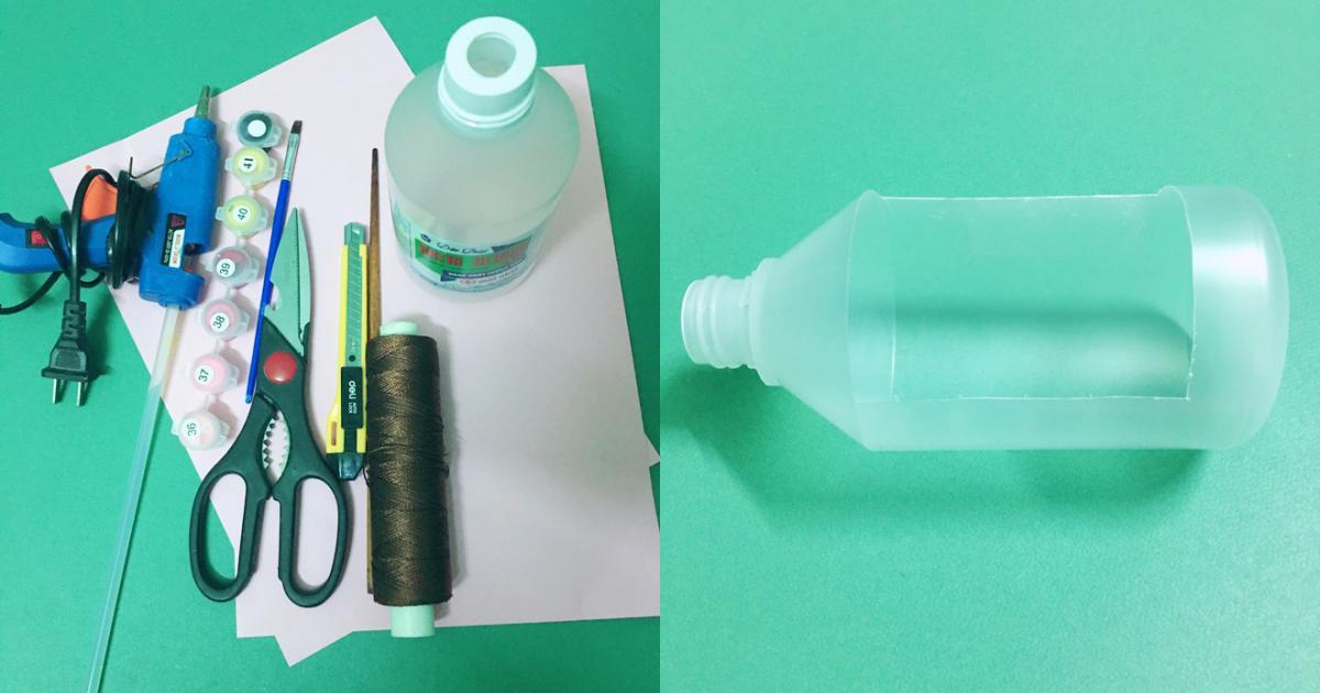 3 bước đơn giản tận dụng chai nhựa: Có ngay đèn Trung thu cho bé ngộ nghĩnh, độc đáo khiến con tự hào