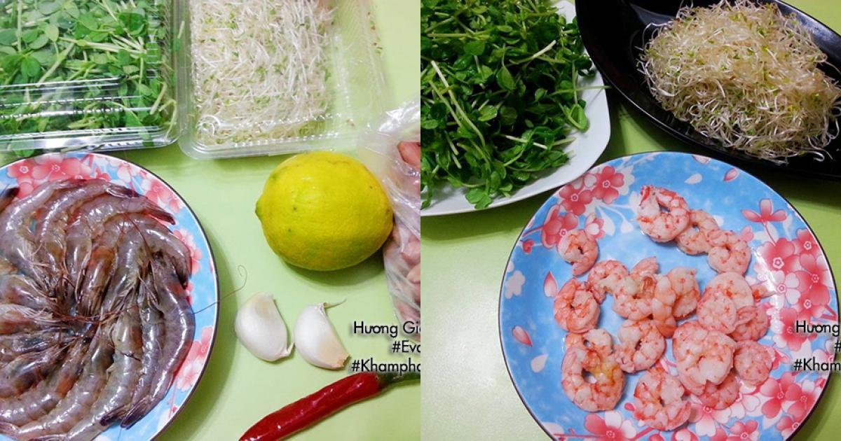 [Chế biến] - Gỏi tôm rau mầm vừa ngon vừa sạch