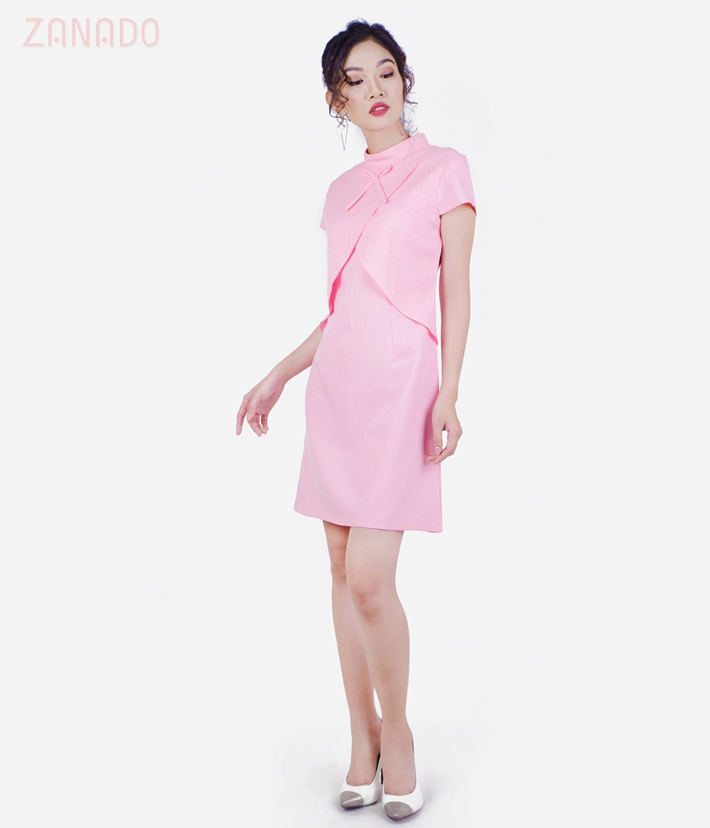 Đầm suông phối vạt Thời trang Eden D182 SID65479