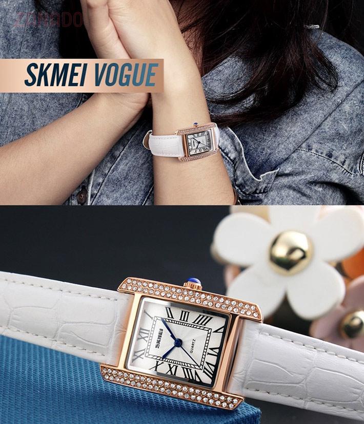 Đồng hồ SKMEI nữ viền đá sang trọng SK117 SID65390
