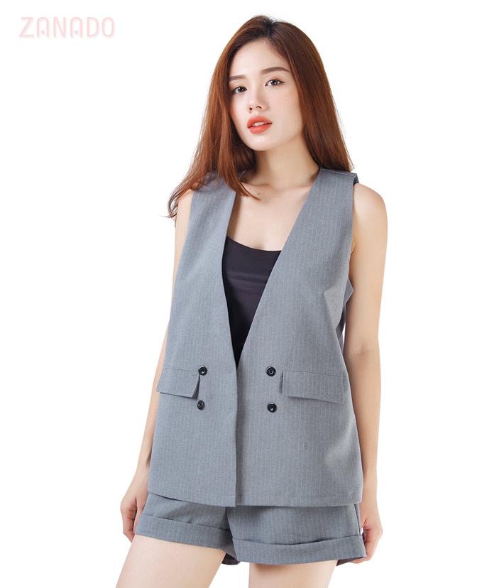 Set vest và quần short nữ năng động SID65310