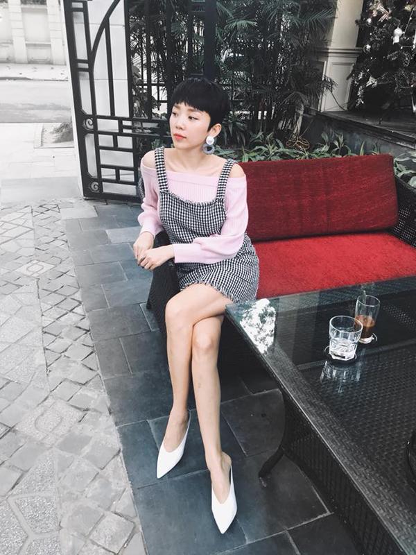 Sao Việt sành điệu với hoạ tiết ca rô