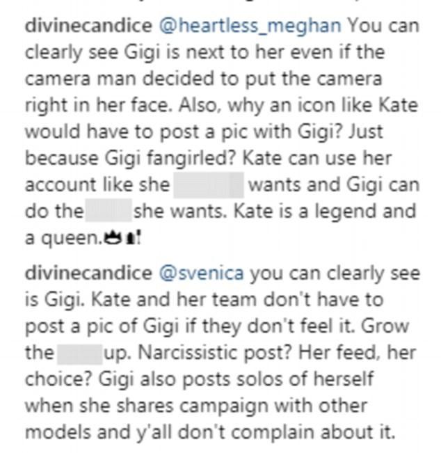 Đăng ảnh chụp với Gigi Hadid, Kate Moss chơi đểu khi cố tình che mặt đàn em